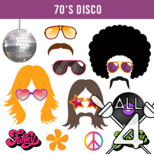 digital props, 70's disco, disco, 70s