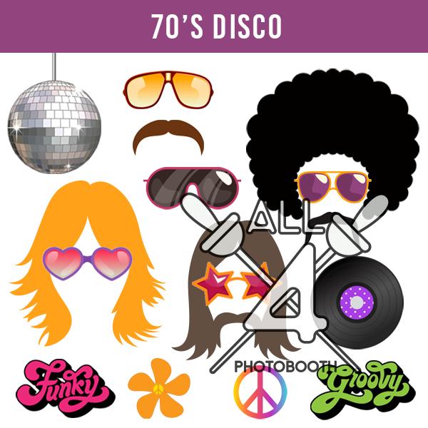 digital props, 70's disco, disco, 70s