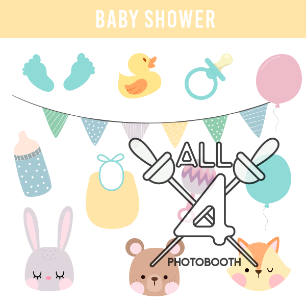 digital props, baby shower