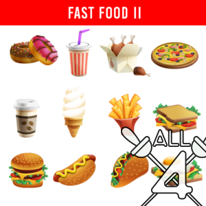 digital props, fast food, food