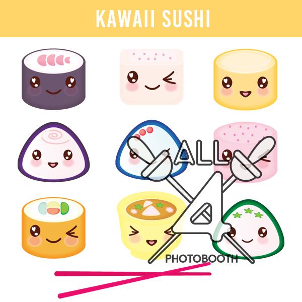 digital props, kawaii sushi, kawaii