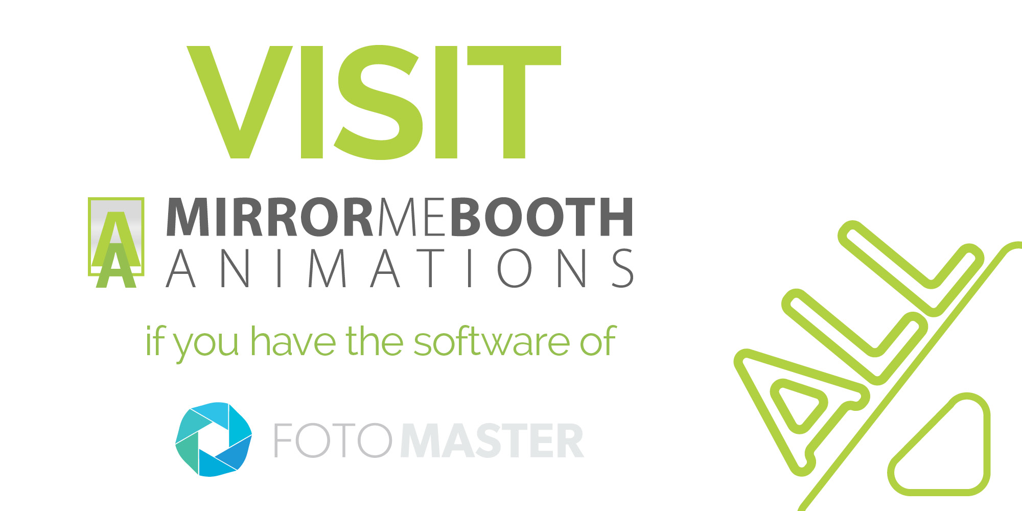 Mirrormebooth, animations, fotomaster, visit