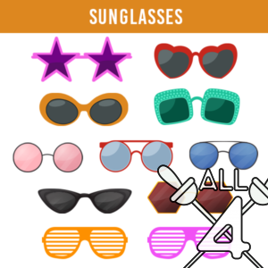 digital props, sunglasses