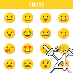 digital props, emojis, faces